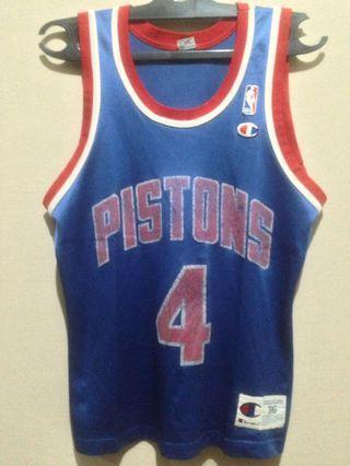 Champion Detroit Piston Old Jersey