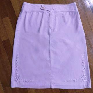 Purple embroidered skirt