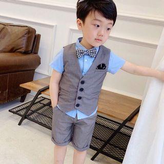 現貨1套 9碼-男童馬甲西裝 兒童禮服 花童西裝