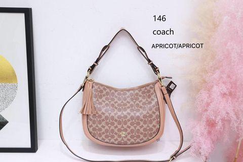 Coach Shoulder Bag Apricot Color