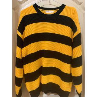 蜜蜂條紋寬鬆針織毛衣🐝