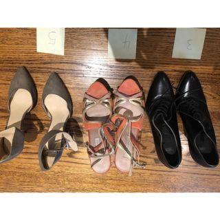 Various Unworn, gently used designer women's shoes - sz 37-38
