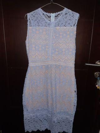 Lace Dress blue long