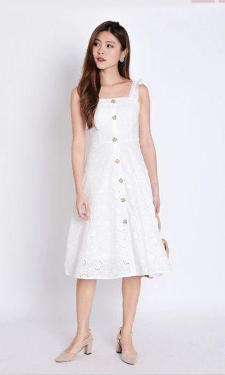Topazettte Rachelly Eyelet Dress in white