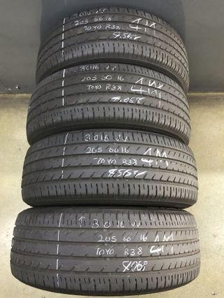 205/60/16 toyo used tyre 4pc $140