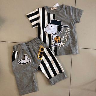 Setelan Anak - Snoopy Set Grey