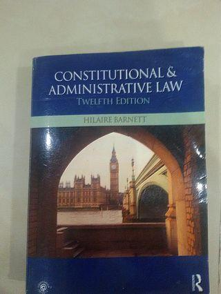 UOL Year 1 Public Law Textbook Constitutional & Administrative Law 12th Edition by Hiliare Barnett
