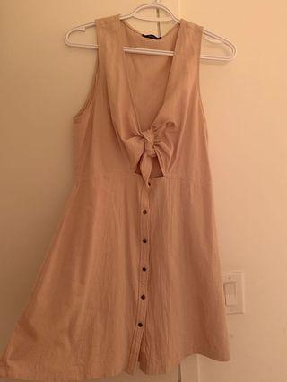 Beige mini wrap dress (Mendocino)