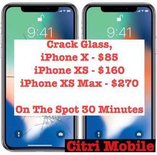 iPhone 6 7 8 X XR Screen Repair Service, Samsung LCD Repair