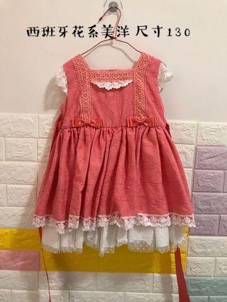 西班牙花系洋裝