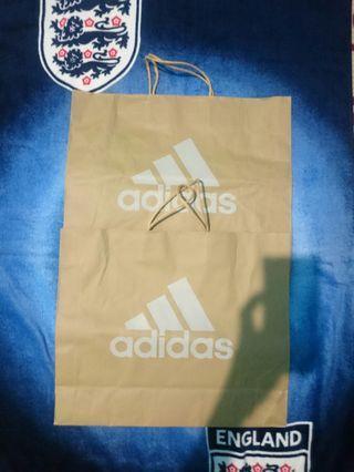 Paper bag adidas three stripe