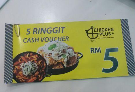 chicken plus+ (2 vouchers RM5)