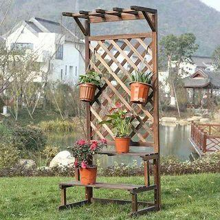 FREE DELIVERY Wooden Planter Flower Rack