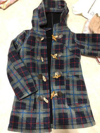 格子內刷毛學生風外套