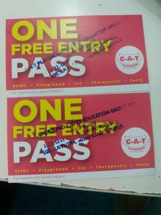 C-A-T PLAYGROUND (2 FREE ENTRY PASS)