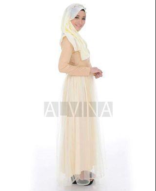 Tutu Dress Yellow Cream