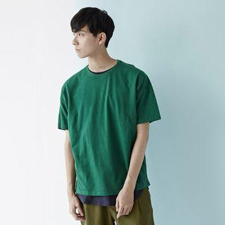 Plain me 棉質落肩寬版TEE COP0117 綠色S號 Plain-me