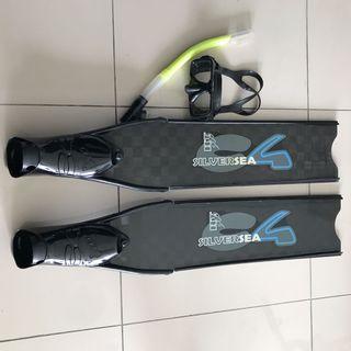 C4 Freediving Long Fins