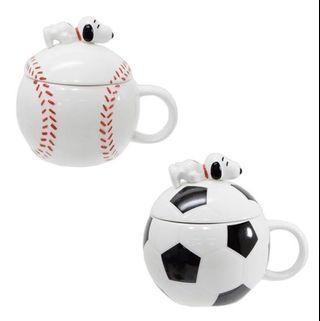 馬克杯 SNOOPY 史努比 棒球 足球 造型 杯子