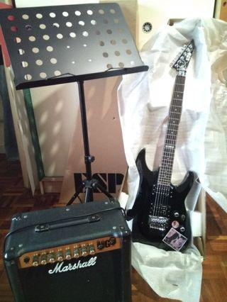 ESP LTD MH-50 / Marshall MG15fx / free music stand.