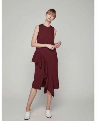 Collate The Label cascading ruffle dress
