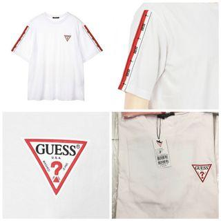 Guess Oversized Tapey Tape Street Style T Shirt Tee