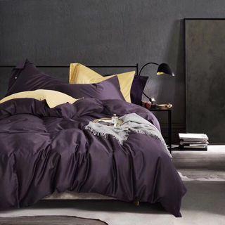 全新降價出清 奢華紫純棉60支數床包四件組