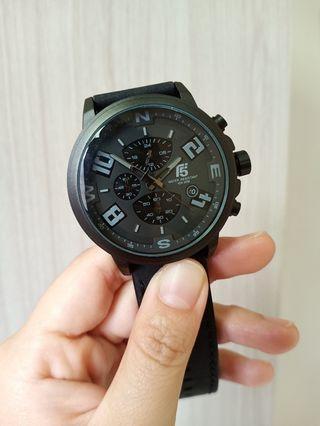 快速出貨美國T5潮牌-賽車款真三眼個性男錶皮錶帶運動手錶