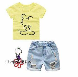 Setelan Baju Anak - Unisex Mickey