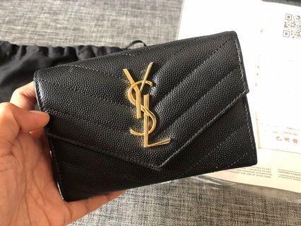 YSL Wallet trifold ori leather dompet mirror vip