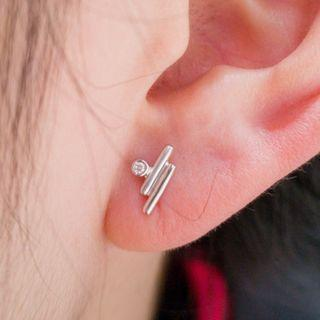 Two Bar Diamond Earrings