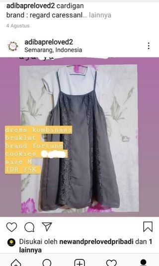 dress kombinasi bruklat
