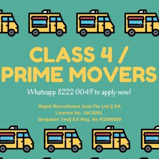 CLASS 4/PRIME MOVERS @ EAST/WEST - UP TO $4000