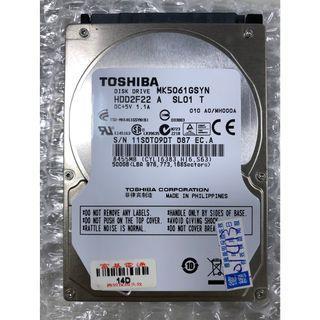 Toshiba MK5061GSYN  500GB 7200RPM SATA 3.0Gb/s 2.5