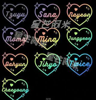 [ $1.50 PO ] TWICE HOLOGRAPHIC STICKERS ( NEW DESIGN )