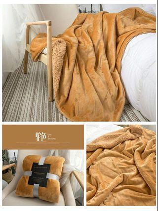 小毛毯沙发盖毯羊羔绒双层加厚珊瑚绒