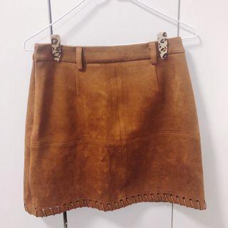 🔺超質感質感麂皮短裙