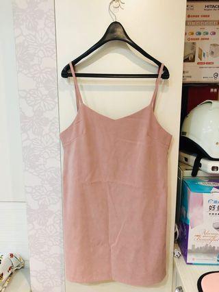 粉藕色 背心連身裙
