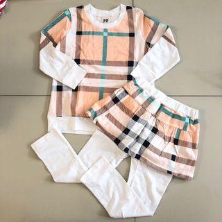 Baju Tidur - Piyama motif Burberry Anak Perempuan