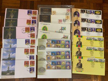 Malaysian royalty first day covers