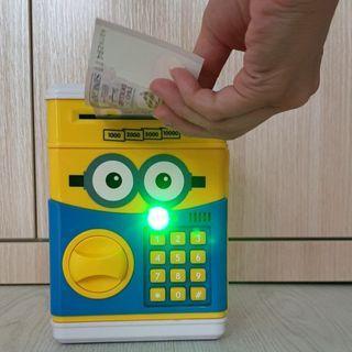 Electronic Savings Piggy Bank - Cash Notes & Coins - Despicable Me Minion Cartoon