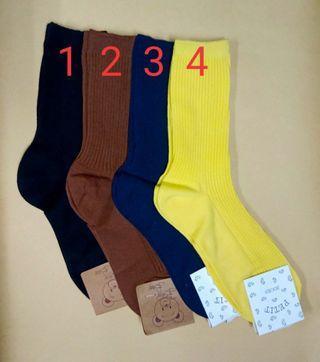 韓國素色襪子