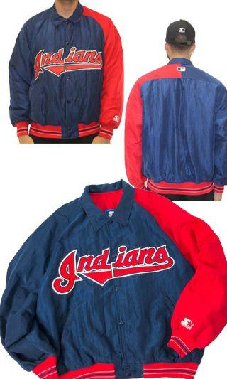 USA vintage 90s vtg Starter Cleveland Indians made in USA
