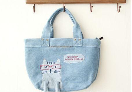日本可愛貓咪手提包