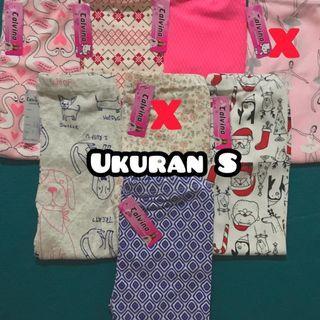 Legging Anak Calvina super premium uk XS-M, 5 pcs motif random