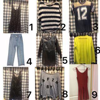 通通60-199‼️有些大尺碼🉑️ J.Z GIRL豹紋背心裙 二手衣 二手皮裙 二手牛仔褲