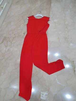 Zara Jumpsuit Merah