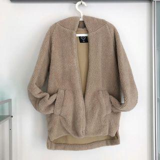 cute oversized sherpa fleece jacket