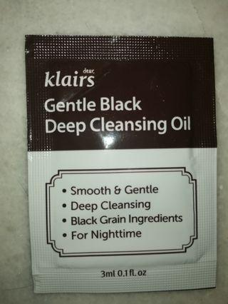 Klairs Gentle Black Deep Cleansing Oil (Sample pack)