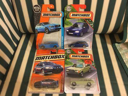 Matchbox (not hot wheels) Lot of 4 - Mitsubishi Evo X, Volvo V60 Wagon, Mercedes Wagon, Audi RS 6 Avant